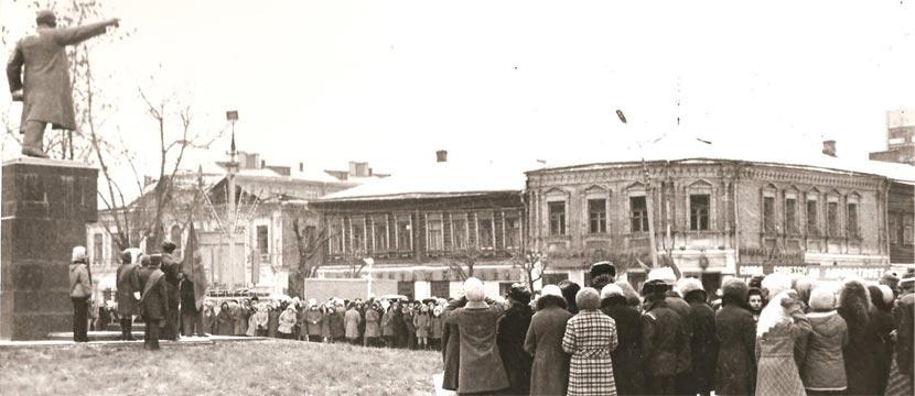 Главная улица села Орехово