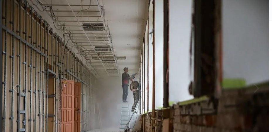 Капитальный ремонт в школе № 5 в Орехово-Зуеве